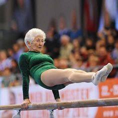 Dear Lord, let me be just like her when I get to the golden years.  Believe me, it's not that far away!