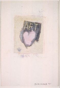 Art Heart Joe Brainard (American, Salem, Arkansas 1942–1994 New York) Date: 1975 Medium: Cut and pasted printed and painted paper, gouache, and colored pencils on paper Dimensions: H. 6, W. 4 inches (15.2 x 10.2 cm.)