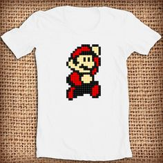shirt super mario bros puzle design