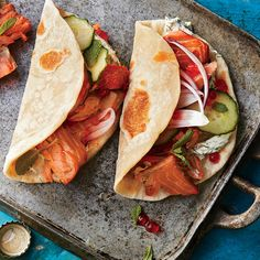 Learn how to make Pacific Northwest Smoked Salmon Tacos . MyRecipes has tested recipes and videos to help you be a better cook Easy Salmon Recipes, Fish Recipes, Seafood Recipes, Quick Fish, Easy Fish Tacos, Fish Dinner, Seafood Dinner, Fresh Seafood, Eating Clean