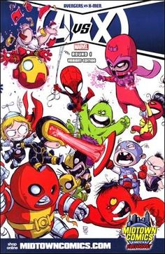 Avengers vs. X-Men #1 Skottie Young Midtown Wraparound Variant Cover | CGC 9.8