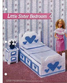 Little Sister Bedroom: Barbie Furniture by grammysyarngarden