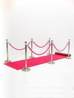 Pink Carpet Walkway (Carpet, 6xStands, 4xRopes)