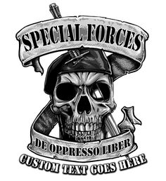 Army De Oppresso Liber Skull and Dagger Shirt   Created at the request of the SFG community by Vision-Strike-Wear.Com