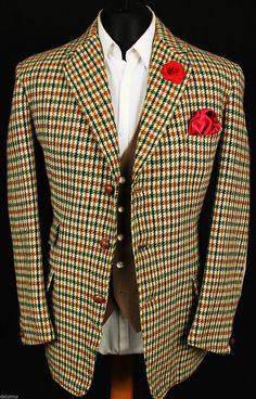 Harris Tweed Blazer Jacket Vintage Wedding Country Hacking 40R HAND TAILORED   eBay