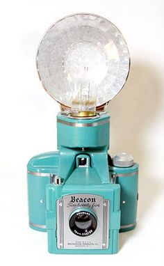 Camera, Beacon Two-Twenty Five (flash attached on top)  vintage, beauty. I would love to take photographs with this.