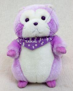 Rascal the Raccoon Lavender Hokkaido Limited Plush Doll Figure JAPAN ANIME MANGA