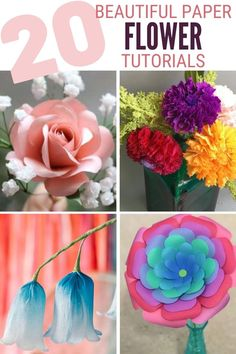 Grab your girlfriends and learn How to Make Paper Flowers with these 20 Easy Step by Step Tutorials. Click here now for all the info!! #thecraftyblogstalker #paperflowerweddingdecoration #paperflower #paperflowers Paper Gifts, Diy Paper, Paper Crafting, Handmade Flowers, Diy Flowers, Flower Step By Step, Different Types Of Flowers, How To Make Paper Flowers, Spring Projects