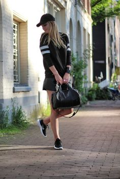 nike free run outfit blogger