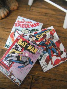 Miniature Comic Books. $4.00, via Etsy.