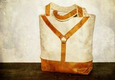sailing canvas and caramel suede harness day tote equestrian inspired