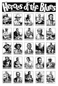 Heroes of the Blues, drawn by R. Crumb