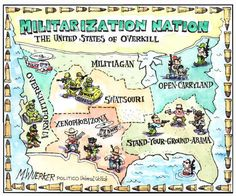 Revised map of the USA by Matt Wuerker I Think Map, Good Cartoons, Guns Dont Kill People, World History Lessons, Nation State, Gun Control, Photo Essay, Kos, The Past