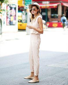 Danielle Bernstein Street Style Macacão