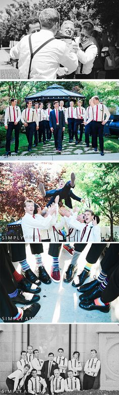Salt Lake City LDS Temple Wedding Photography | Arbor Manor Utah Reception Venue | Fun Groomsmen Photo Ideas | Simply Amor Photography