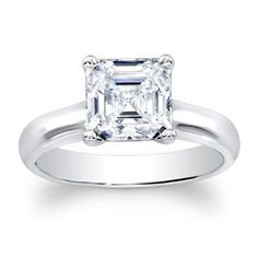 For real though... Asscher cut... lovely. Ladies18kt classic engagement ring with natural 2ct by EVSdesign, $625.00