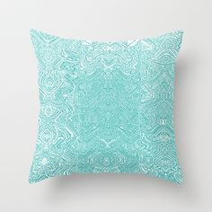 New Outdoor Pillow Covers available!  Abstract Teal Throw Pillow by Serena Gailey - $20.00