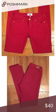 Paige Verdugo Ultra Skinny Raspberry Jean Excellent condition. 8 inch rise. 30 inseam Paige Jeans Jeans Skinny