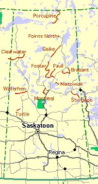 Map of SaskatchewanI hear the duck hunting in the northern lakes