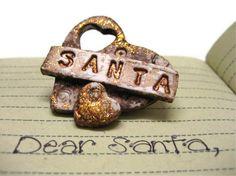 Santa - Christmas Ornament - Gift Topper - Tag - Charm. $5.50, via Etsy.