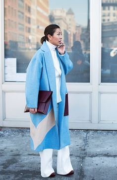 On the Street….Fifty Shades of Blue & Grey, New York - The Sartorialist