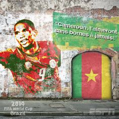 FIFA World Cup Brazil 2014  Cameroon World Cup 2014, Fifa World Cup, Football Design, Identity, Soccer, African, Creative, Painting, Futbol