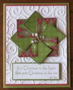 Christmas card faux quilt by janstamper - Cards and Paper Crafts at Splitcoaststampers
