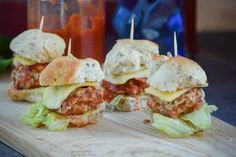 BUFFALO CHICKEN with BLUE CHEESE MINI MEATBALL CHEESEBURGERS 📷 FOOD PHOTO SHOOT