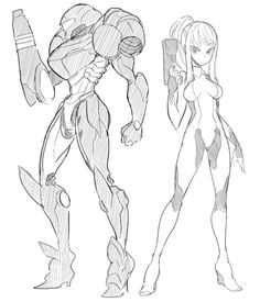 Samus Aran Sketches