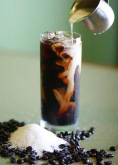Iced espresso with cream