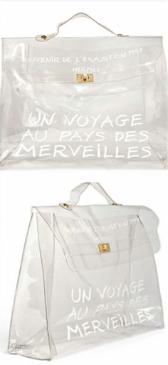 Hermès ● Limited edition transparent vinyl Kelly