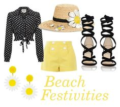 """""""Beach Festivities"""" by maiaelisej on Polyvore featuring Boutique Moschino, Kate Spade and Barneys New York"""