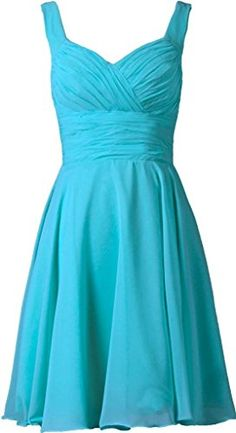 MaliaDress Women Short Spaghetti strap Evening Bridesmaid Dress Prom Gown M283LF Turquoise US8 >>> Learn more by visiting the image link-affiliate link. #SweatersForWomen