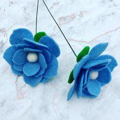 I've been experimenting with new style flowers and just love how these turned out! #thefeltorium #feltflowers #feltlove #feltflowers #felt #feltflorist #feltcraft #feltflowersuk #handmade #etsyshop #etsyseller #etsyuk #florals #floraldesign #floralart #florallove #homedecoration #blueflowers #artificialbouquet #fauxflowers #bluebouquet #pastelflowers #feltflowercrown