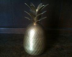 Vintage Retro Brass Pineapple Ananas Fruit by EnglishShop on Etsy, £35.00