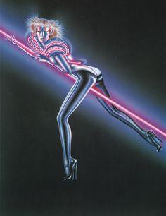 Olivia De Berardinis, Sci Fi News, Photo Scan, Airbrush Art, Cat Party, Pin Up Art, Sci Fi Art, Vaporwave, Fantasy Art