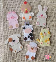 Safari Animals Finger Puppets, African A - Diy Crafts - Qoster Felt Puppets, Felt Finger Puppets, Diy Quiet Books, Baby Quiet Book, Quiet Book Patterns, Felt Patterns, Felt Diy, Felt Crafts, Diy Crafts