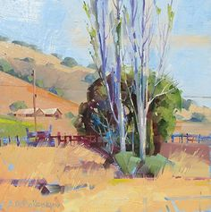 Andrew Ballantyne - Old Almaden View- Oil - Painting entry - August 2016…