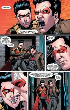 Jason and Tim awe Jay trying to feel good in Batman&robin eternal book 2 Nightwing, Batgirl, Batwoman, Son Of Batman, Batman Family, Batman Robin, Batman Batman, Batman Arkham, Tim Drake
