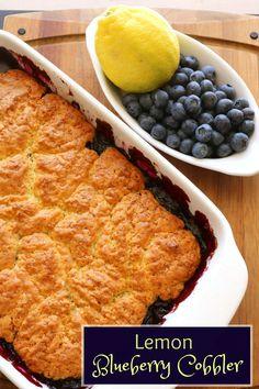 Lemon Blueberry Cobbler Recipe from 5DollarDinners.com