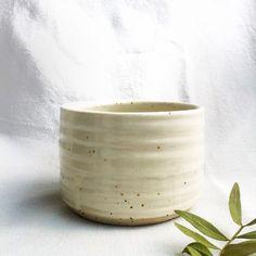 White Stoneware Tumbler, handmade  #pottery #ceramic #handmade #thrown #stoneware