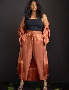 View our Satin Duster with Fringe Detail and shop our selection of designer women's plus size Coats + Jackets, clothing and fashionable accessories.