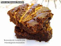 Dia Um... Na Cozinha! Com Brownies de Nutella com Manteiga de amendoim