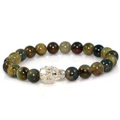 Men's Golden Shadow Crystal Skull Meditation Bracelet with Pietersite Gemstone Beads (scheduled via http://www.tailwindapp.com?utm_source=pinterest&utm_medium=twpin&utm_content=post15106220&utm_campaign=scheduler_attribution)