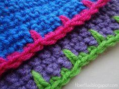 Crochet Blanket Stitch Edging with Free Pattern