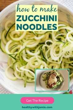 Following a low carb, keto or gluten free diet doesn't mean you have to give up noodles! Zucchini noodles are an easy and tasty alternative that can go in pretty much anything - pasta dishes, sides, or even chicken zoodle soup. Learn how to make zucchini noodles here and let me know your favorite way to eat them. #keto #glutenfree #lowcarb #healthyeating Pasta Recipes, Keto Recipes, Healthy Recipes, Free Recipes, Sugar Free Diet, Gluten Free Diet, Chicken Zoodle Soup, Zucchini Noodles, Low Carb Diet