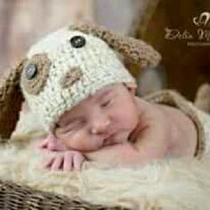 I luv this one I made so cute...luv seeing them in newborn photos. Puppy. Set