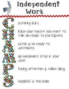 classroom discipline writing assignments