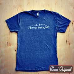 The I Love Bend, OR tri-blend gray shirt is a fan favorite of the I Love Bend, OR fans. We still have sizes S-XL, so get yours today because they are selling fast!