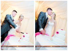 cutting of the wedding cake. Romantic. Basingstoke wedding photographer. Hampshire.